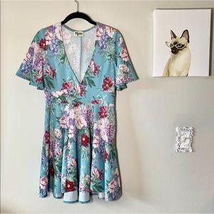 Show Me Your Mumu Blue Floral Aubrey Dress